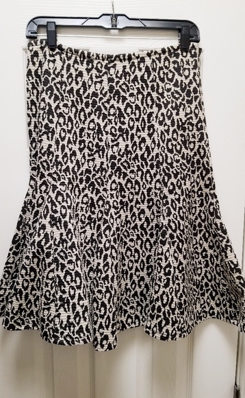 Marisa Christina Dresses & Skirts - Leopard-print, a-line, paneled skirt